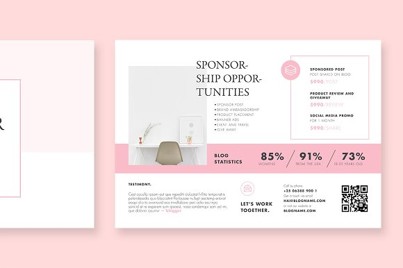 blogger proposal template brochure templates creative market
