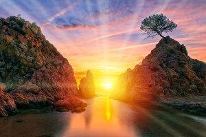 Sunrise in Tossa de Mar