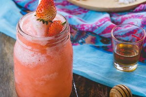 Strawberry sweet drinks for healthy