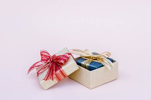 Gift box on background