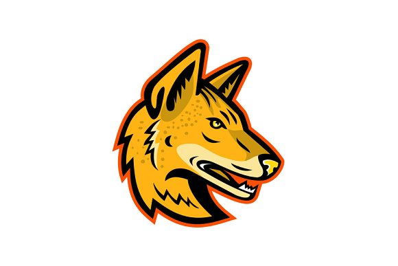 Arabian Wolf Head Mascot