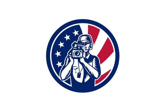 American Cameraman USA Flag Icon