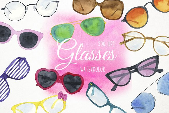 Glasses And Sunglasses Clipart