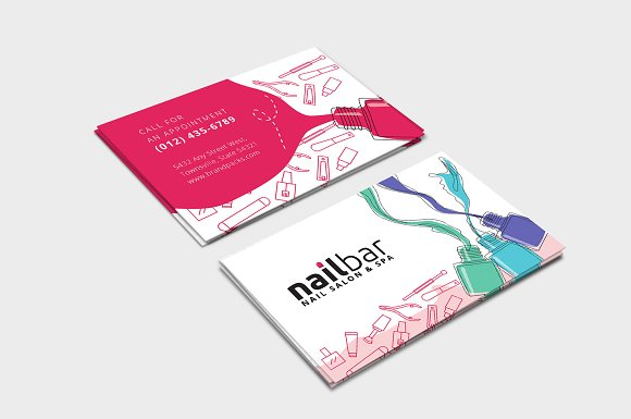 Nail Salon Business Card Template Business Card Templates