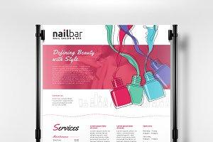 A3 Nail Bar Poster Template