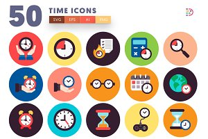 Time Flat Icons