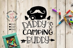 Daddy's camping Buddy Cut File