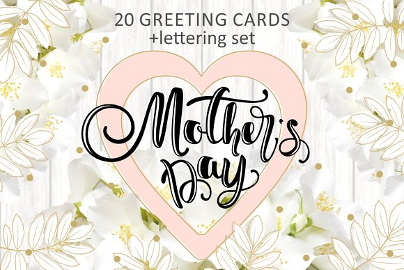 Mother's day gift cards set