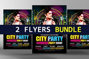 Party Flyer Electro Bundle 2 in 1