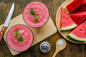 watermelon smoothie fruit drinks