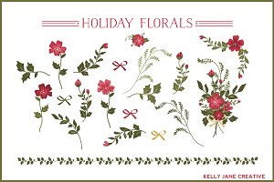 Christmas Florals, Bows, & Bouquet