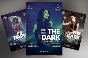 The Dark Paradise - Club Flyer