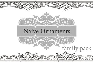 Naive Ornaments Family Pack