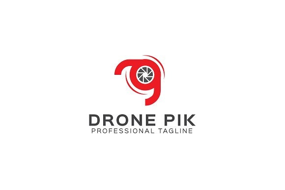 Drone Pik Logo Template