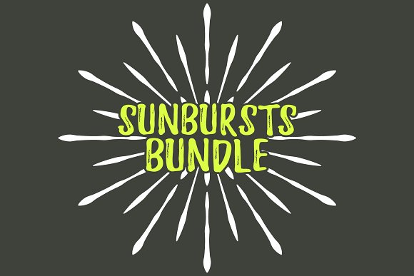 100 Sunbursts Icon Retro Big Bundle