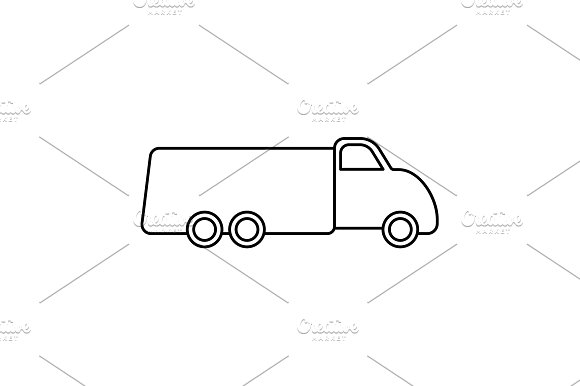 Truck Line Icon Vector Illustration