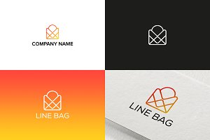 Line Bag Logo Design