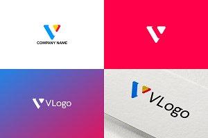 Simple Logo Design for Letter V