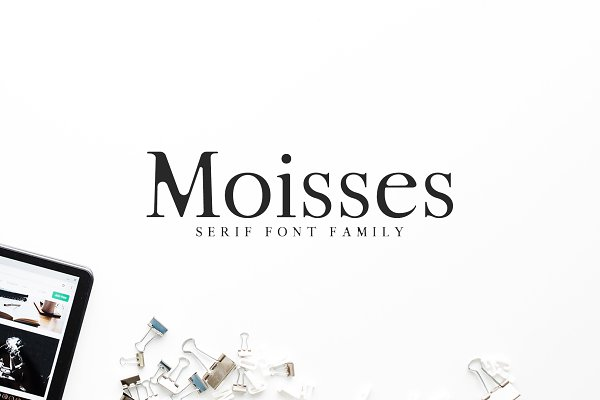 Serif Fonts: Creativetacos - Moisses Serif Font Family Pack