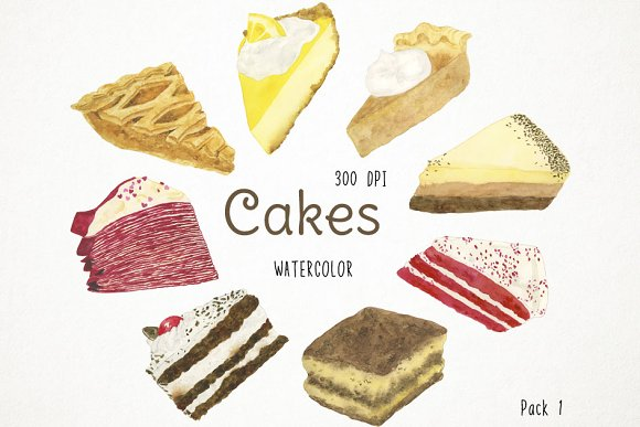 Cakes Clipart Pack 1