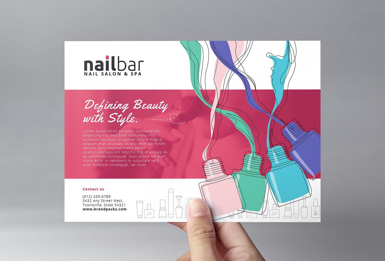 Nail Bar Flyer Template ~ Flyer Templates ~ Creative Market