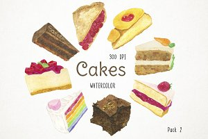 Cakes Clipart Pack 2