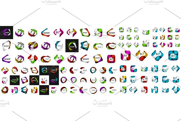 Abstract Geometric Shapes Logos