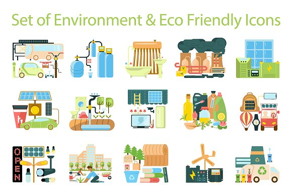 Environment Eco Friendly Icons