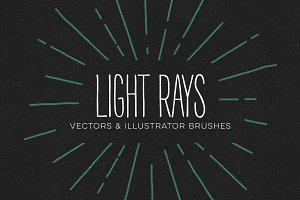Vector Light Ray Brushes