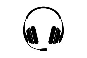 headphone icon. vector illustration