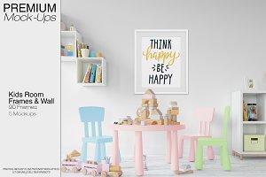 Kids Room - Wall & 90 Custom Frames