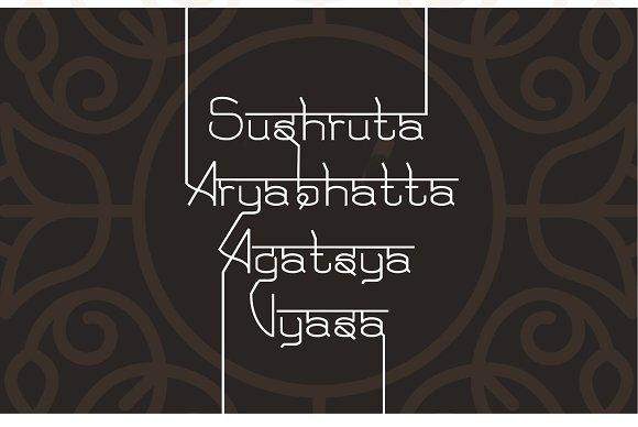 Yuga Sanskrit - English Font