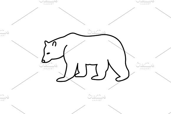 Bear Symbol Vector Illustration