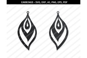 Peacock earrings svg,dxf,ai,eps,png