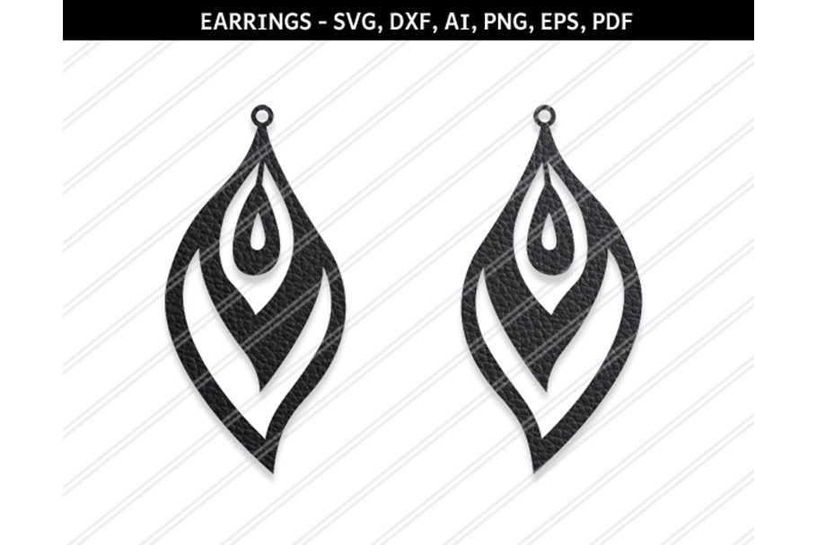 Download Peacock earrings svg,dxf,ai,eps,png ~ Graphic Objects ...