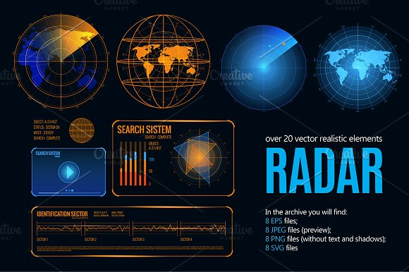 Search Radar Realistic Set
