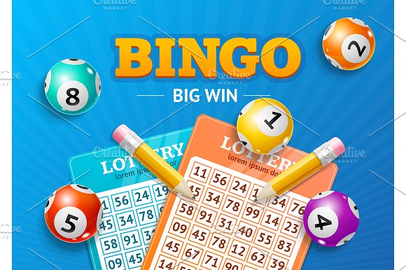 Lotto Concept Bingo Big Win