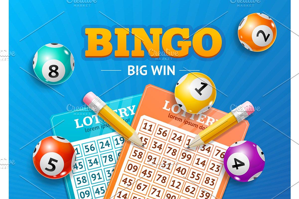 Lotto Concept Bingo Big Win