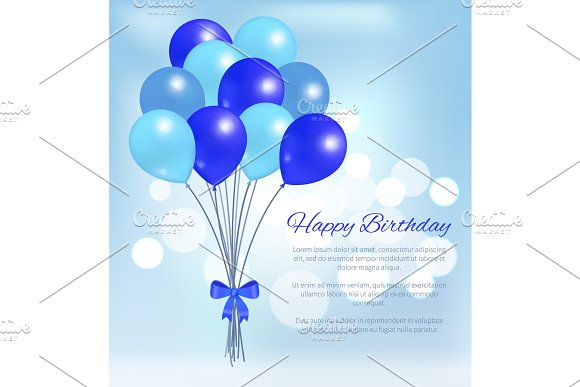 Happy Birthday Balloons Party Decorations Poster Creative Daddy