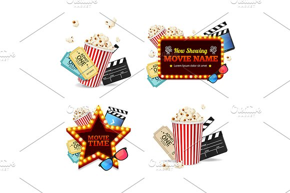 Realistic Detailed 3D Cinema Set
