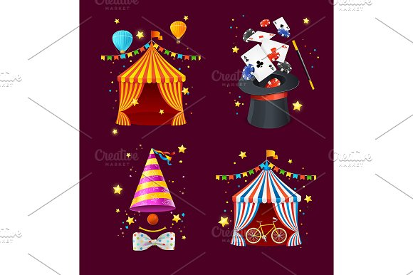 Realistic Detailed 3D Circus Set