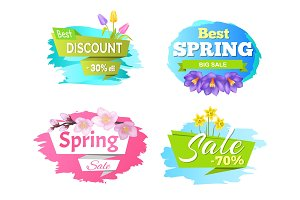 Best Discount Spring Big Sale 50% 70% Posters Set