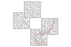 Maze Conundrum Geometric Labyrinth