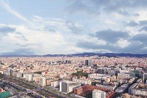 Barcelona. Aerial shot.