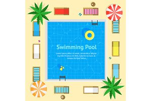 Pool with Blue Water Card Set
