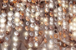 Vertical diamonds necklace glitter jewellery background