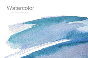 watercolor brush strokes blots