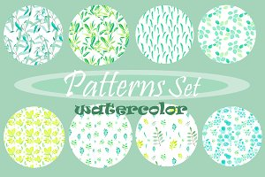 Watercolor Patterns Set