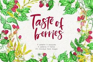 Watercolor Berries Clip Art