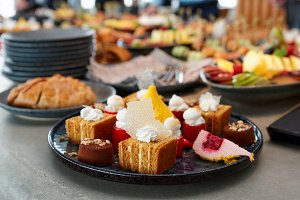 Desserts, fruits and other food